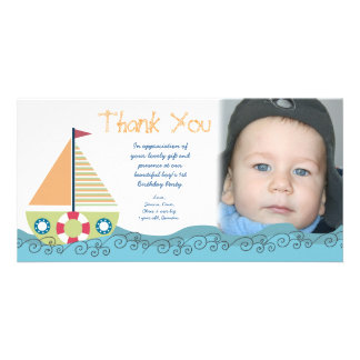 Obrigado cartões de fotos do partido de primeiro a cartoes com foto personalizados