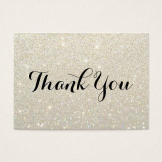 Obrigado cartões - ouro branco Glit fabuloso