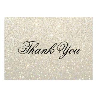 Obrigado cartões - ouro branco Glit fabuloso Cartão De Visita Grande