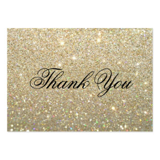 Obrigado cartões - ouro Glit fabuloso Cartão De Visita Grande