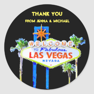 Obrigado casais de Las Vegas Adesivo