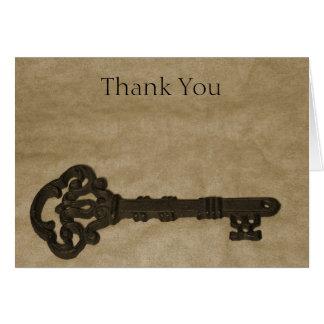 Obrigado chave idoso do casamento você cartões