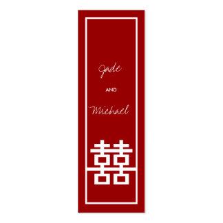 Obrigado chinês do casamento da caixa do dobro Xi  Cartao De Visita
