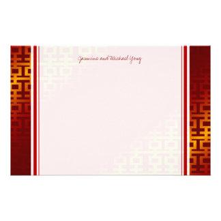 Obrigado chinês do teste padrão da felicidade do d papel personalizados