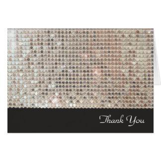 Obrigado cintilante dos Sequins você cartão de