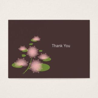 Obrigado contemporâneo simples elegante cartão de visitas