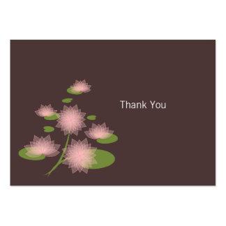 Obrigado contemporâneo simples elegante cor-de-ros modelo cartoes de visitas