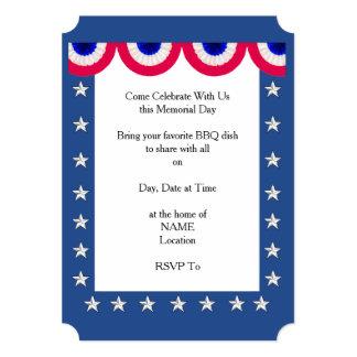Obrigado convites de festas do Memorial Day de