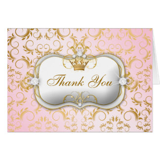 Obrigado cor-de-rosa divino dourado de 311 Ciao Cartão De Nota