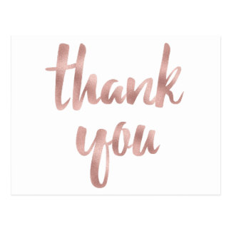 Obrigado cor-de-rosa do ouro você cartão