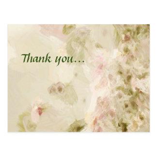 Obrigado cor-de-rosa dos rosas você cartão postal
