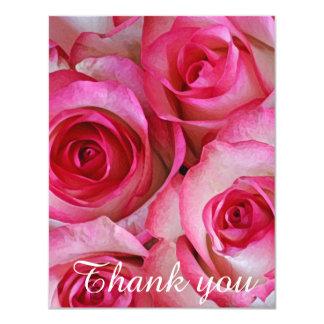 Obrigado cor-de-rosa dos rosas você convite 10.79 x 13.97cm