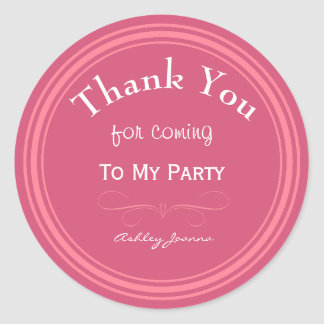 Obrigado cor-de-rosa feito sob encomenda você adesivo