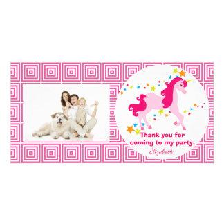Obrigado cor-de-rosa Mythical da festa de Cartão