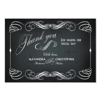 Obrigado corajoso da tipografia do vintage do convite 8.89 x 12.7cm