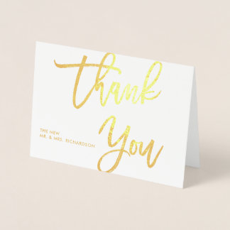 Obrigado corajoso do roteiro | você tipografia cartão metalizado