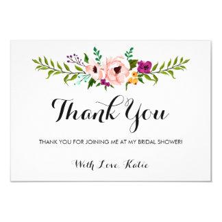Obrigado - coroa da flor convite 8.89 x 12.7cm