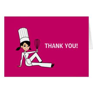 Obrigado culinário do cozinheiro chefe você cartão