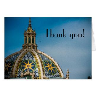 Obrigado da abóbada do mosaico de San Diego do Cartão De Nota