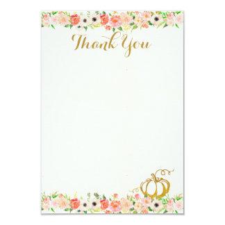 Obrigado da abóbora você cartão de nota convite 8.89 x 12.7cm