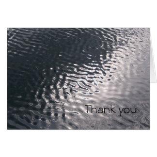 Obrigado da água você cartões