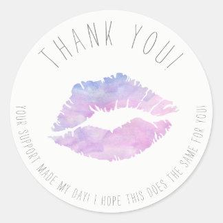 Obrigado da aguarela do Lilac você etiquetas
