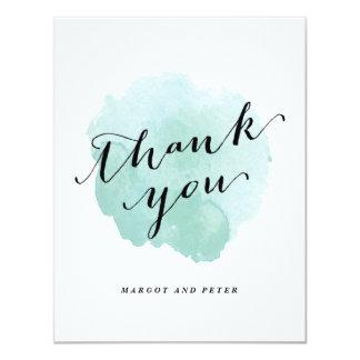 Obrigado da aguarela você cartão de nota liso