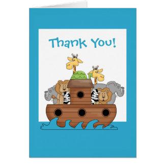 Obrigado da arca de Noah você cartão de nota