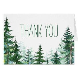 Obrigado da árvore de abeto você cartões
