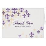 Obrigado da cascata da flor de lis você cartão comemorativo
