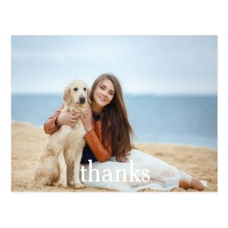 Obrigado da celebração você texto branco do cartão