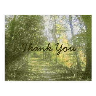 Obrigado da cena da natureza você cartão