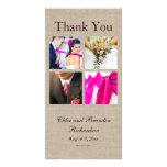 Obrigado da colagem de serapilheira você cartão co cartões com fotos personalizados