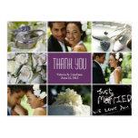 Obrigado da colagem do casamento você cartão - rox cartoes postais
