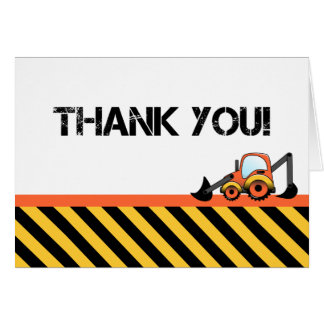 Obrigado da construção do escavador você cartões