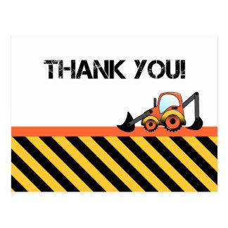 Obrigado da construção você cartões