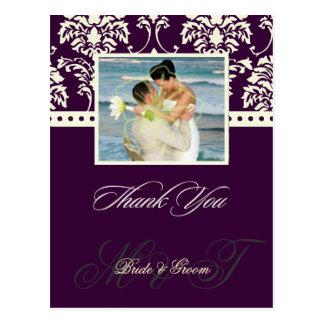 Obrigado da cor/casamento de DIY você cartão da Cartão Postal