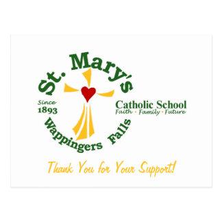 Obrigado da escola católica de St Mary você cartão Cartão Postal
