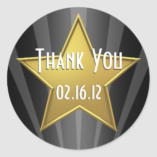 Obrigado da estrela de Hollywood você etiqueta Adesivo