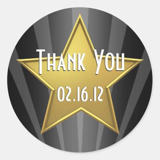 Obrigado da estrela de Hollywood você etiqueta Adesivos Redondos