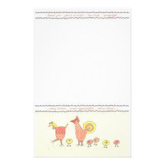 Obrigado da família da galinha você papel de nota papelaria