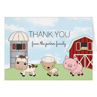 Obrigado da fazenda do Barnyard você │ do cartão