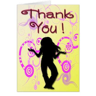 Obrigado da festa de aniversário da menina do cartão de nota