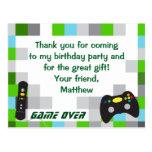 Obrigado da festa de aniversário do caminhão do cartão postal