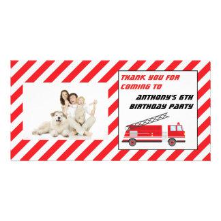 Obrigado da festa de aniversário do carro de cartão