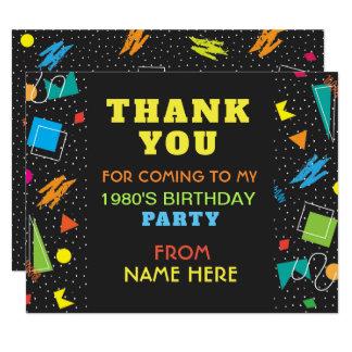 Obrigado da festa de aniversário você cartão dos