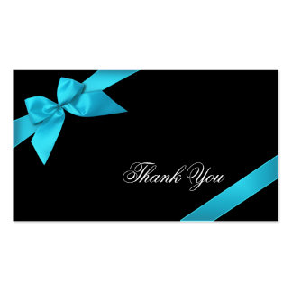 Obrigado da fita de turquesa você Minicard Cartoes De Visita