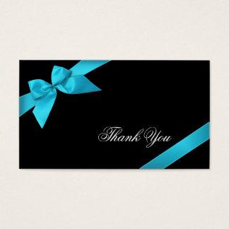 Obrigado da fita de turquesa você Minicard Cartão De Visitas