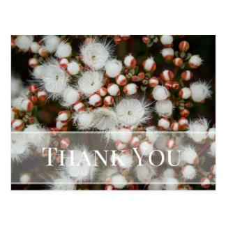 Obrigado da flor da flor você cartão cartão postal