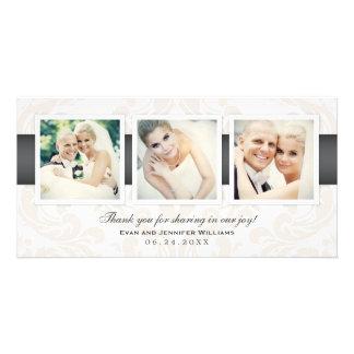 Obrigado da foto do casamento você carda | três cartão com foto